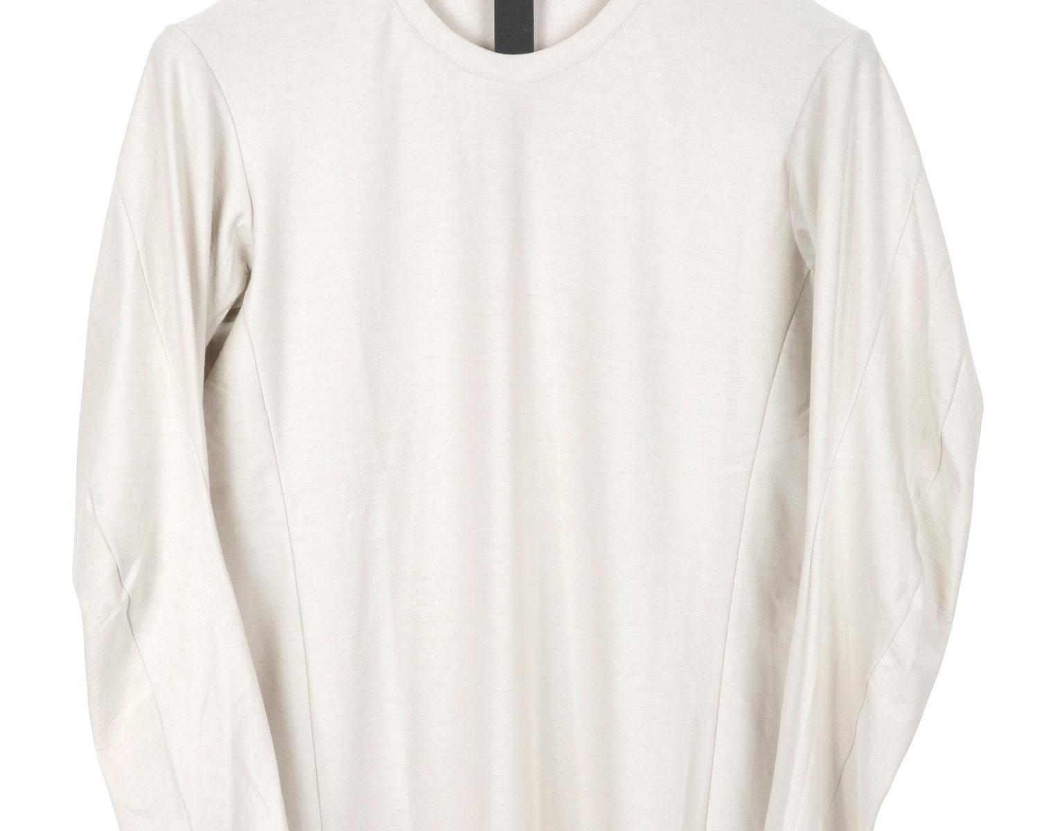 DEVOA Long Shirt white grey 1