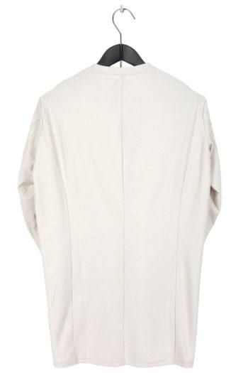 DEVOA Long Shirt white grey 3