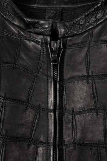 ISAAC SELLAM Crocodile Leather Jacket 2