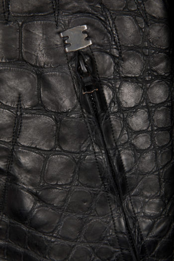 ISAAC SELLAM Crocodile Leather Jacket 3