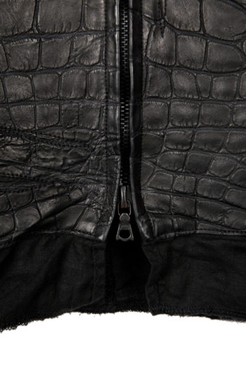 ISAAC SELLAM Crocodile Leather Jacket 4