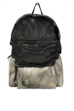OXS RUBBER SOUL Backpack black / brownish green 1