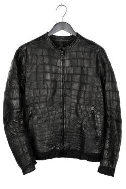 ISAAC SELLAM Crocodile Leather Jacket 1