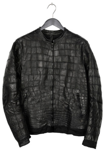 ISAAC SELLAM Crocodile Leather Jacket 1