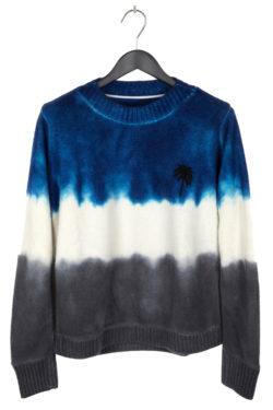 THE ELDER STATESMAN Intarsia Dyed Palm Tree Sweater 1