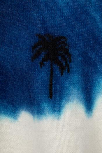 THE ELDER STATESMAN Intarsia Dyed Palm Tree Sweater 3