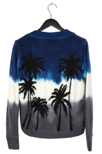 THE ELDER STATESMAN Intarsia Dyed Palm Tree Sweater 4