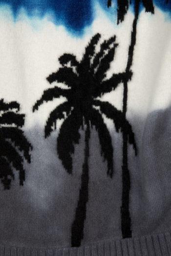 THE ELDER STATESMAN Intarsia Dyed Palm Tree Sweater 5