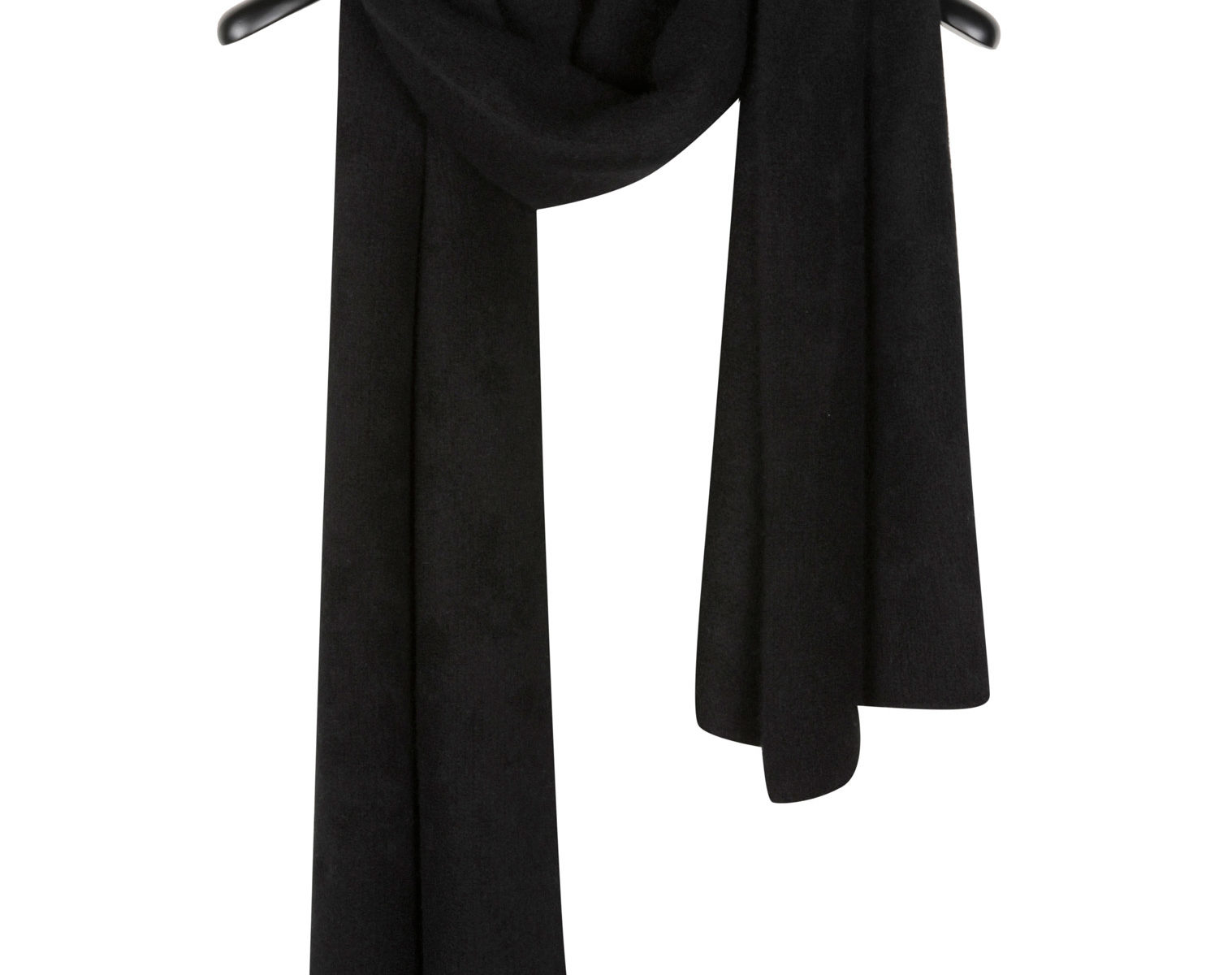 THE ELDER STATESMAN Oversized Scarf black 1