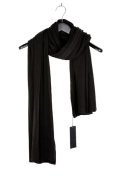 THE VIRIDI-ANNE Double Layer Scarf black 1