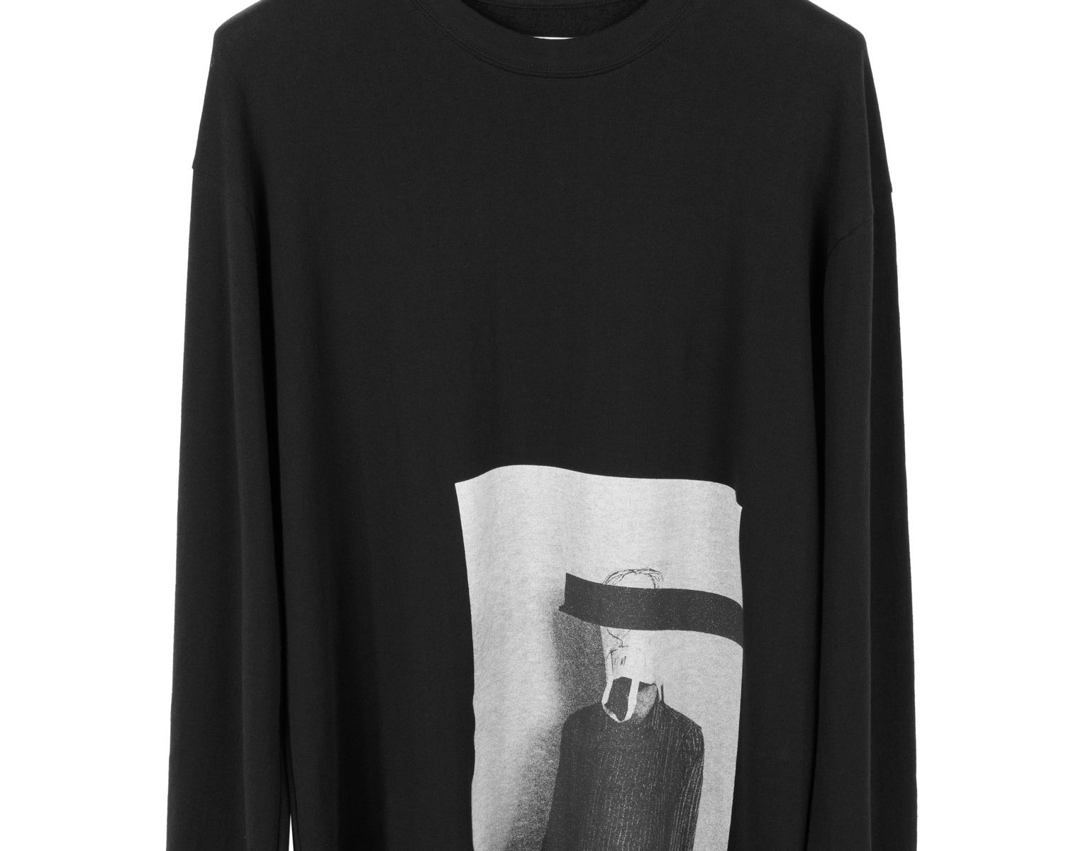 """SONG FOR THE MUTE """"Bag Head"""" Print Sweater 1"""