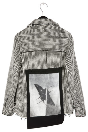 """SONG FOR THE MUTE """"Moth"""" Print 4 Pocket Square Jacket 1"""