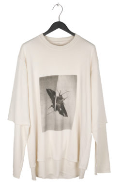 "SONG FOR THE MUTE ""Moth"" Print Double Sleeve Oversized Sweater 1"