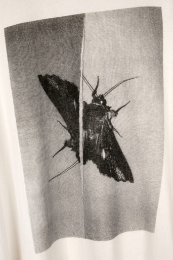 "SONG FOR THE MUTE ""Moth"" Print Double Sleeve Oversized Sweater 2"