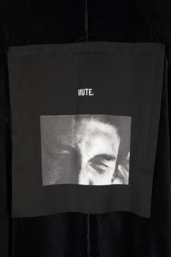 "SONG FOR THE MUTE ""Mute"" Print Strap Bomber Jacket 4"