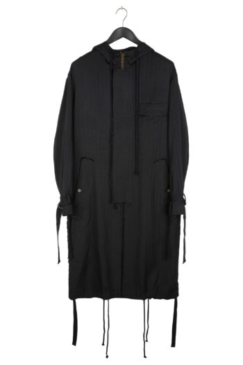 """SONG FOR THE MUTE """"Ooft"""" Print Long Parka 1"""