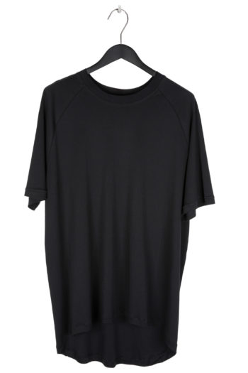 "SONG FOR THE MUTE ""Ooft"" Print Raglan Oversized T-Shirt black 1"