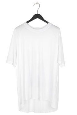 "SONG FOR THE MUTE ""Ooft"" Print Raglan Oversized T-Shirt white 1"
