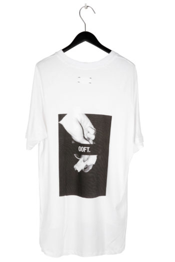 """SONG FOR THE MUTE """"Ooft"""" Print Raglan Oversized T-Shirt white 2"""