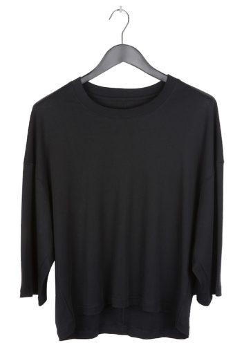 SONG FOR THE MUTE Cropped Relaxed Shirt black 1
