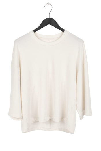 SONG FOR THE MUTE Cropped Relaxed Shirt ecru 1