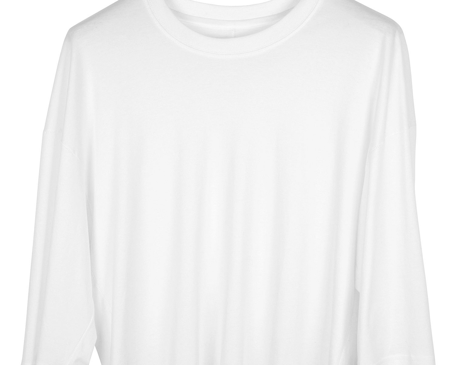SONG FOR THE MUTE Cropped Relaxed Shirt white 1