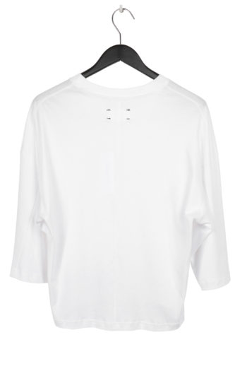 SONG FOR THE MUTE Cropped Relaxed Shirt white 3