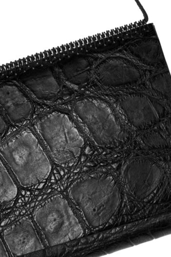 ISAAC SELLAM crocodile leather organizer wallet 2