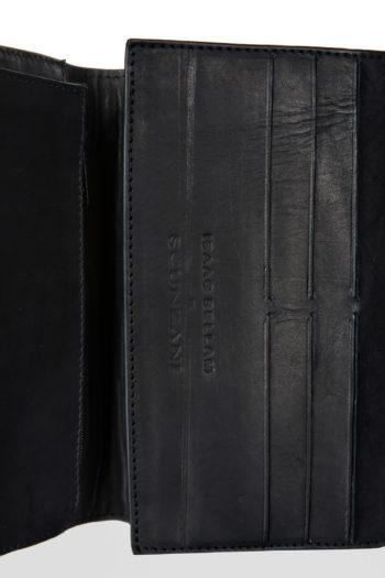 ISAAC SELLAM crocodile leather organizer wallet 4