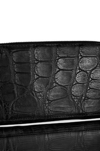 ISAAC SELLAM crocodile leather zip wallet 2