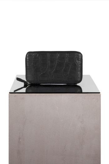 ISAAC SELLAM crocodile leather zip wallet 3