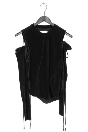 SONG FOR THE MUTE Cropped Shirt With Detached Sleeve 1