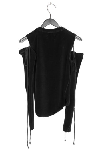 SONG FOR THE MUTE Cropped Shirt With Detached Sleeve 4