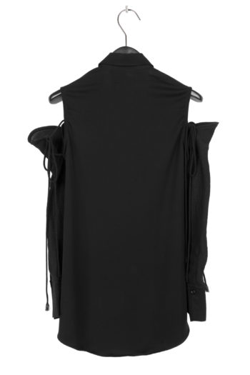 SONG FOR THE MUTE Long Shirt With Detached Sleeve 4