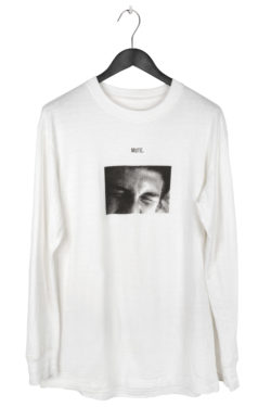 "SONG FOR THE MUTE ""Mute"" Print Long Shirt 1"