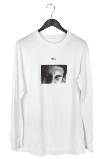 """SONG FOR THE MUTE """"Mute"""" Print Long Shirt 1"""