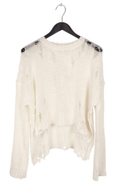 R13 Shredded Side Slit Sweater 1