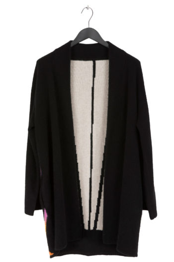 THE ELDER STATESMAN Intarsia BackPainted Sunset Short Robe Coat 1