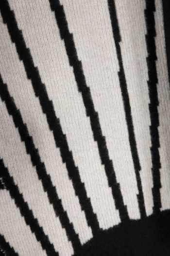THE ELDER STATESMAN Intarsia BackPainted Sunset Short Robe Coat 2
