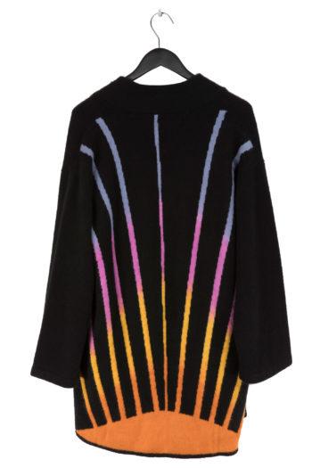 THE ELDER STATESMAN Intarsia BackPainted Sunset Short Robe Coat 3