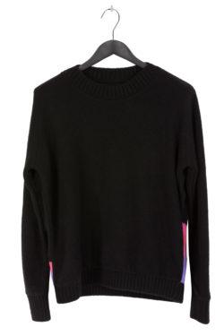 THE ELDER STATESMAN Intarsia BackPainted Wolf Sweater 1