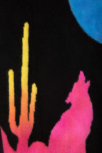 THE ELDER STATESMAN Intarsia BackPainted Wolf Sweater 3