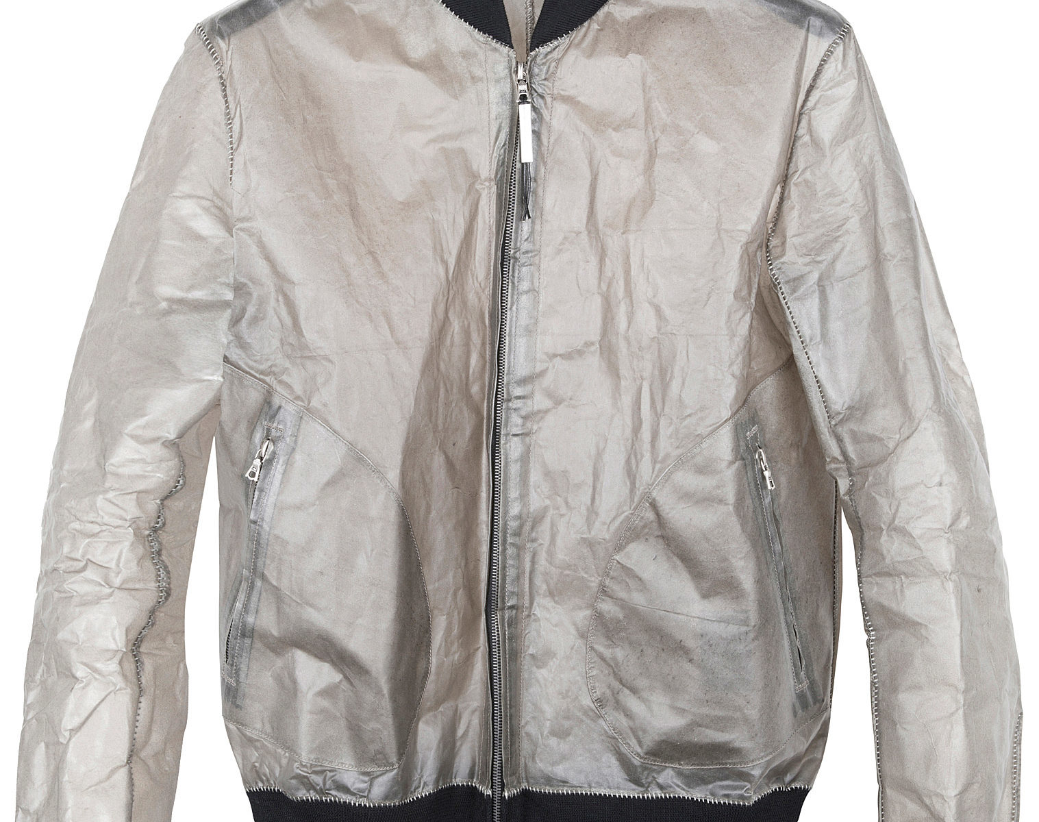 ISAAC SELLAM Transparent Leather Bomber 1