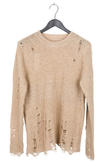 SONG FOR THE MUTE Distressed Knit Sweater 1