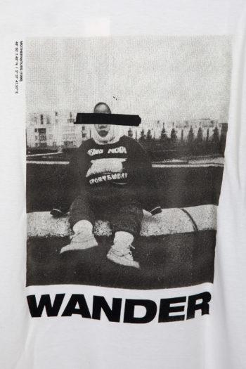 "SONG FOR THE MUTE ""Wander Kid"" Print Raglan Oversized T-Shirt 4"