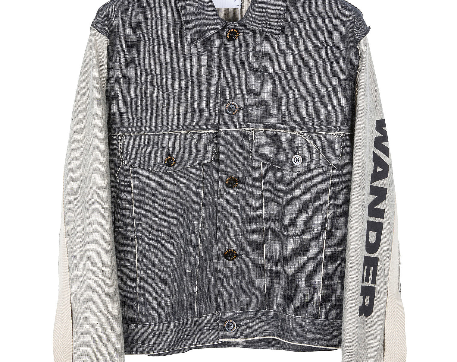 "SONG FOR THE MUTE ""Wander"" Raw Denim Worker Jacket 1"
