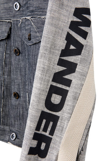 "SONG FOR THE MUTE ""Wander"" Raw Denim Worker Jacket 3"