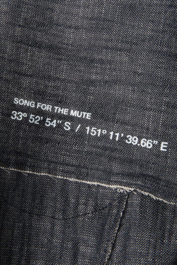 "SONG FOR THE MUTE ""Wander"" Raw Denim Worker Jacket 5"