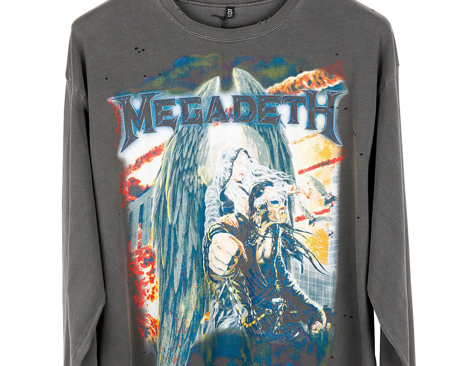 "R13 ""Megadeth"" Long Shirt 1"