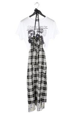 R13 T-Shirt Apron Dress 1